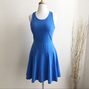 Banana republic Sloan fit and flare blue dress